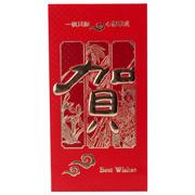 國產  彩印浮雕紅包(大) 170*89MM 紅色 6個/包