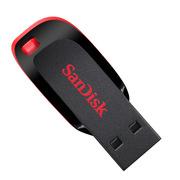 闪迪 SDCZ50-016G-Z35 酷刃 USB2.0 U盘 16G 黑红色