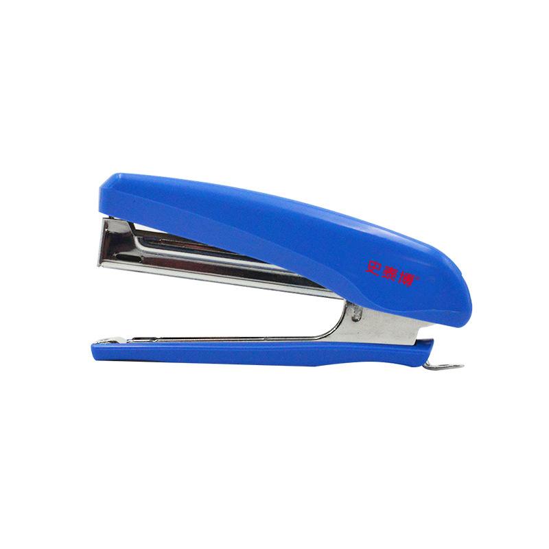 史泰博 STAM1108 迷你订书机  蓝色 10号针 蓝色 1/60/240 一般訂書機,使用10號針,釘10張紙,塑膠上蓋與底