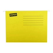 史泰博  标准吊式挂快捞/吊式文件袋(25个/盒) A4 黄色