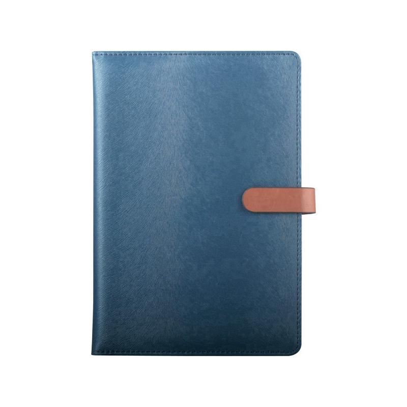 史泰博  仿皮磁性搭扣笔记本  25K,80页 蓝色