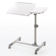 山业 100-DESK040W 多功能升降电脑桌  白色 W705*D400*H585-850,客户?#32422;?#32452;装