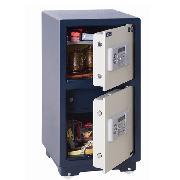 永发 D-73BL3C  电子双门保险柜 H800*W400*D400  宝蓝色箱体+白色门板