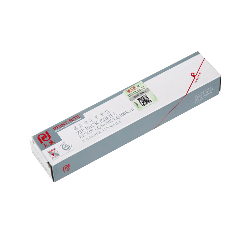 天威 LQ1600K 色带芯 10m*12.7mm 黑色 (适用 EPSON LQ1600K/LQ1000/LQ2550/ LQ670K/680K/LQ300/LQ800/MX80/MX100)