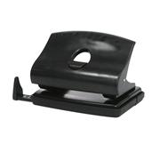 史泰博 sta1020 流線型打孔機(帶標尺) 20頁 黑色 兩孔,打20張紙,孔距80mm,孔徑6mm,塑膠上蓋+鐵底座