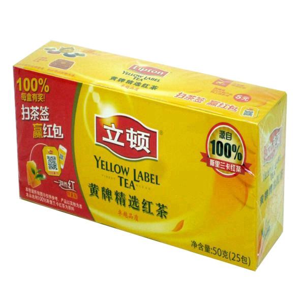 立顿  S25 黄牌精选红茶  2g*25
