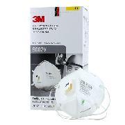 3M 9002V KN90 自吸過濾式防顆粒物呼吸器隨棄式面罩(口罩)   有呼吸閥 25只/盒