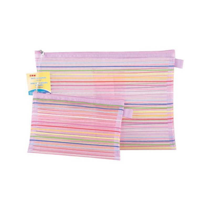 史泰博  尼龍彩色筆袋(1套包含1個大號和1個小號)   彩色