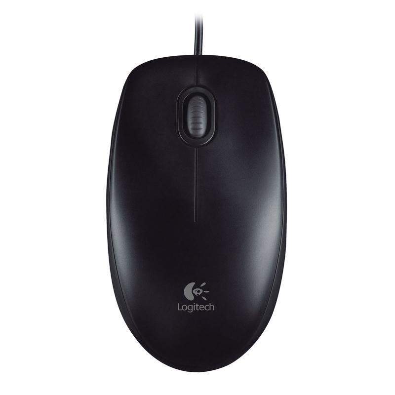罗技 M100r 有线鼠标   黑色