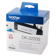 兄弟 DK-22205 热敏连续标签(纸质) 62mm*30.48m 白底黑字 ( 适用 QL系列标签打印机)