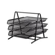 史泰博 P2013 三層鐵質文件盤 350 x 295 x 265 mm 黑色