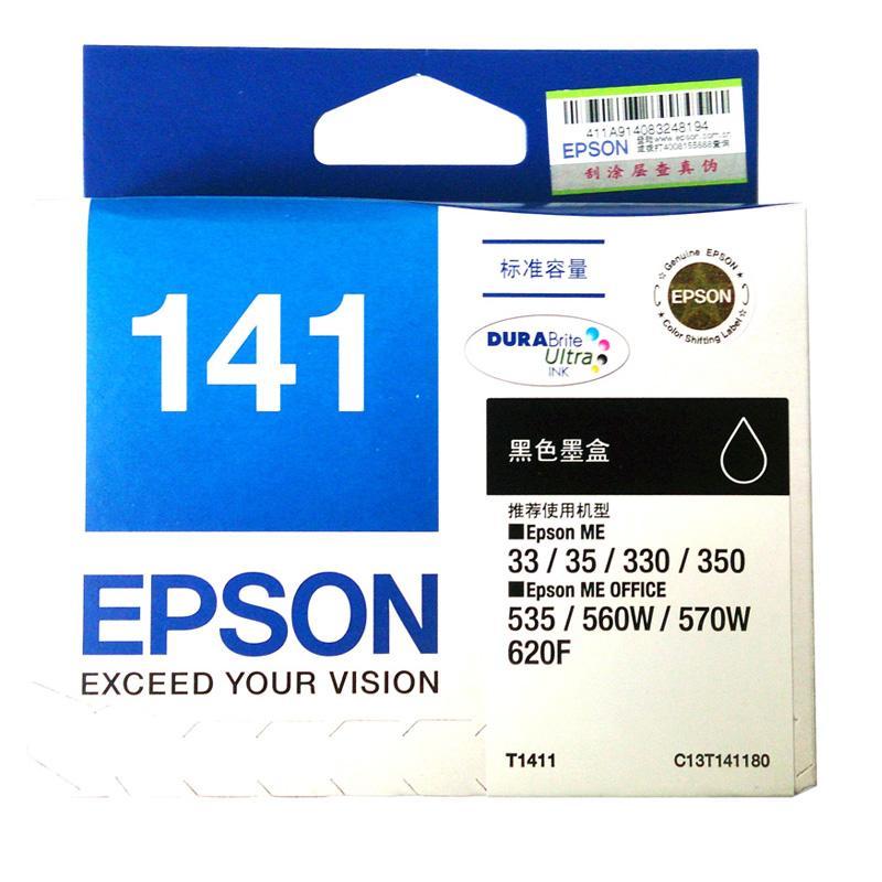 爱普生 T1411 墨盒(C13T141180)   黑色 (适用 Epson ME33/ME35/85ND爱普生 ME330/ME350/ME535/560W/ME570W/620F/900WD/960FWD)