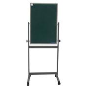 史泰博   雙面綠板(配移動不銹鋼支架) 60*90 綠色 辦公文具