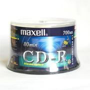 麥克賽爾 CD-R 光盤 700MB/48X(50片筒裝) 銀色