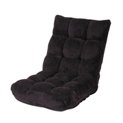 山业 100-SNC041BK 可折叠沙发 黑色 黑色 W500*D600-1040*H140-570 客户自己组装