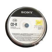 索尼 CD-R 索尼 700MB/48X(10片筒裝) 銀色  一次性刻錄光盤