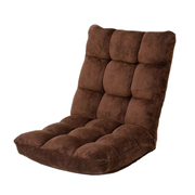 山业 100-SNC041BR 可折叠沙发 棕色 W500*D600-1040*H140-570 客户?#32422;?#32452;装