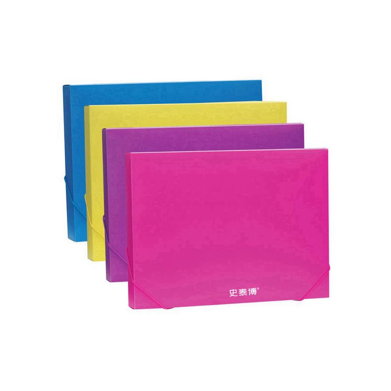 史泰博 ST21141 多彩檔案盒 A4,40MM背寬  藍,紫,玫紅,黃四色隨機