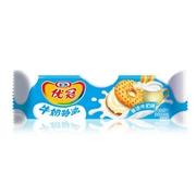 优冠 香浓牛奶味 夹心饼干  130g