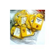 杰麗斯 087 鑰匙扣/鑰匙牌 40*28mm 黃色 8個/包
