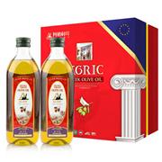 阿格利司  特級初榨橄欖油H型禮盒 1L*2  禮盒