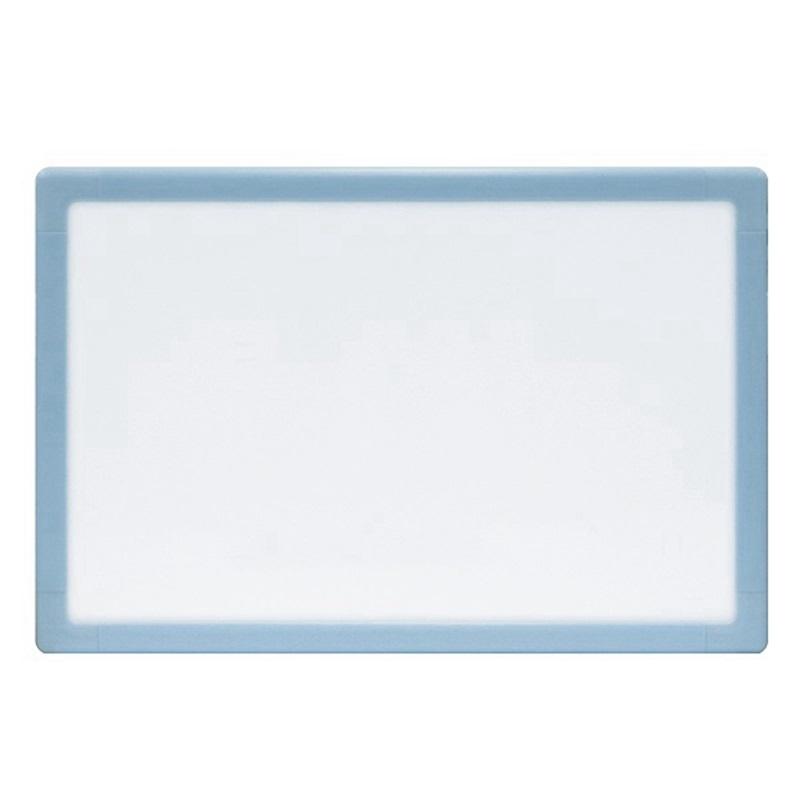 史泰博 RCP-15B 磁性单面白板(蓝色边框) 300*450mm 白色 书写、展示