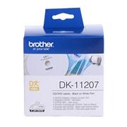 兄弟 DK-11207 热敏定长CD/DVD标签(菲林) 58mm*58m 白底黑字  (菲林100张,适用 QL系列标签打印机)