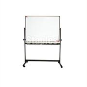 ope电竞娱乐(STAPLES)6090移动铁架白板(一面白板一面软木板,付夹纸器)(马士基专用)