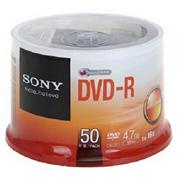 索尼 DVD-R 刻錄光盤 4.7G/16X(50片環保裝)    本款光盤是(50片環保裝),DVD-R光盤可以兼容DVD-R的機器上使用。注意:請在使用前閱讀。本盤片是標準-高倍數媒體-符合DVD-R2.1版本。