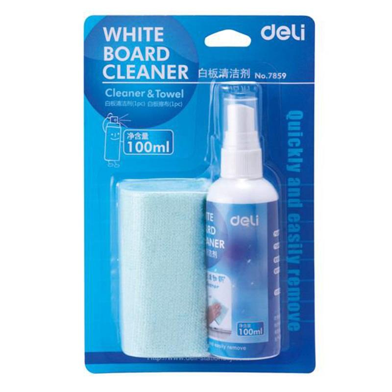 得力 7859 白板清洁剂 附赠白板清洁巾一条