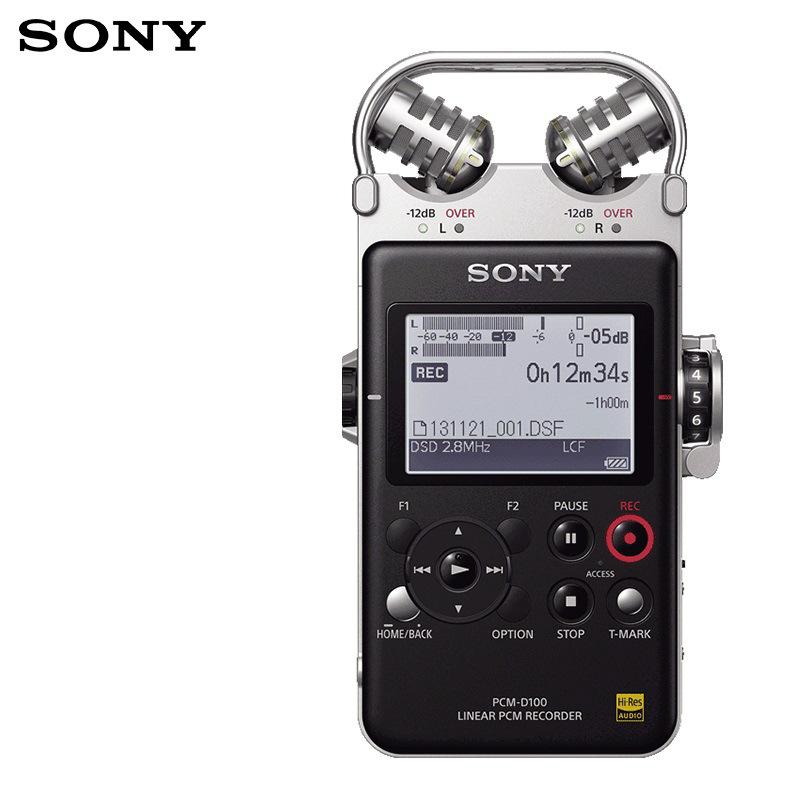 索尼 PCM—D100 录音笔 32G 黑色 1支 专业DSD录音格式/ 大直径定向麦克风