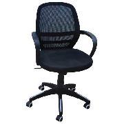 顺华 SH-1304B 职员椅 W600*D500*H880-940 黑色