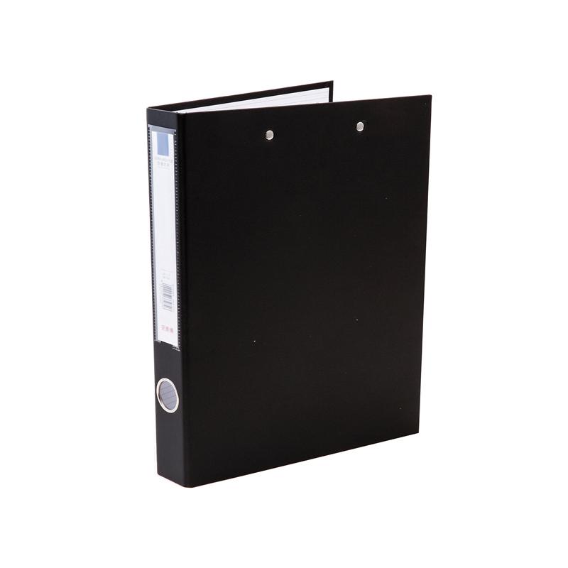 史泰博 NP1049 PVC包胶纸板文件夹-双强力夹 A4  1.5寸 黑色 1只