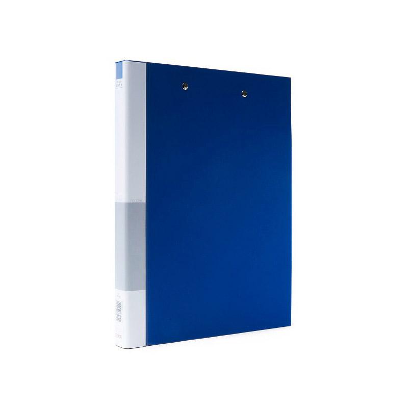 史泰博 NP1058 PVC包胶纸板文件夹-双强力夹 A4 1寸 蓝色