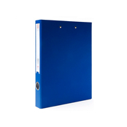 ope电竞娱乐 NP1059 PVC包胶纸板文件夹-长押夹+塑料板夹 A4 蓝色