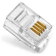 創乘 CC058 RJ11四芯電話水晶頭 100只/包 透明色