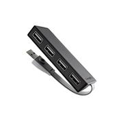 泰格斯 ACH114AP-50 集線器 四口 USB2.0 黑色