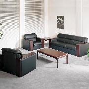 顺华 SH884B 三人沙发(仿皮) W1950*D760*H800 黑色