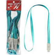 优和 6712 证件卡套胸卡工作证挂绳吊绳 46cm*1cm 浅蓝色 12根/包