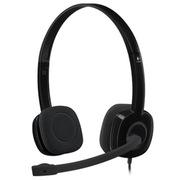 罗技 H151 耳机麦克风  黑色