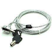 創乘 CD010 筆記本電腦鎖 合金線纜2米 金屬色   鑰匙型