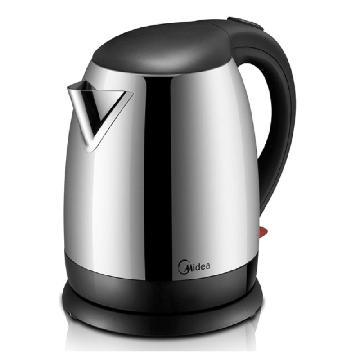 美的 12S03E1C 不銹鋼電熱水壺 1800W 淺灰色