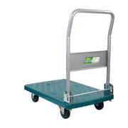 連卡德 LH150-DX 單層微靜手推車 綠色 折倒式扶手 承載150公斤