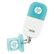惠普 V175W USB2.0 橡膠雪糕迷你U盤 32G 藍白色