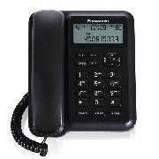 松下 KX-TS318CN 免电池来电显示电话机家用竞博JBO座机  黑色