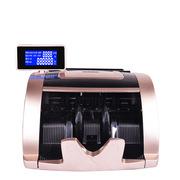 優瑪仕 JBYD-U6058(B) 點鈔機  香檳金色 一臺 采用LED雙屏液晶顯示 可旋轉360° 具備開機自檢功能、故障代碼提示、假幣報警代碼提示 99.99%精準驗鈔 真人語音提示 六大鑒別技術 假幣無處躲藏