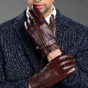 國產 M-01 皮質手套男士冬季保暖加絨加厚 S/M/L
