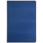 齐心 C5810 皮面笔记本 25K 114页 蓝色