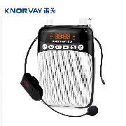 諾為 S308 無線版 小蜜蜂 擴音器 教師專用 教學 腰掛大功率唱戲機  黑色