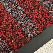 爱柯部落  洁格斯特级刮尘吸水地垫  PVC底 100cm*110cm 红黑色